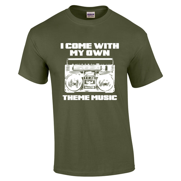 I come with my own theme music T-Shirt - BBT Clothing - 5