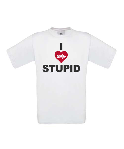 I Love Stupid T-Shirt - BBT Clothing - 3