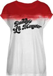 Harley Quinn T-Shirt - Ladies Daddy's Lil Monster White