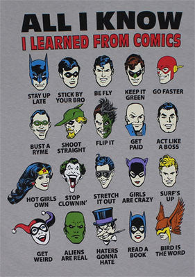 DC Comics T-Shirt - I learned from Superheroes