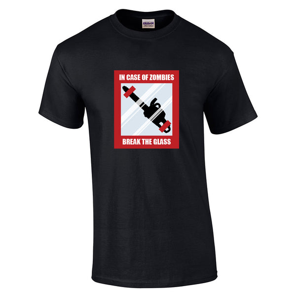 In Case Of Zombies Break Glass T-Shirt - BBT Clothing - 5