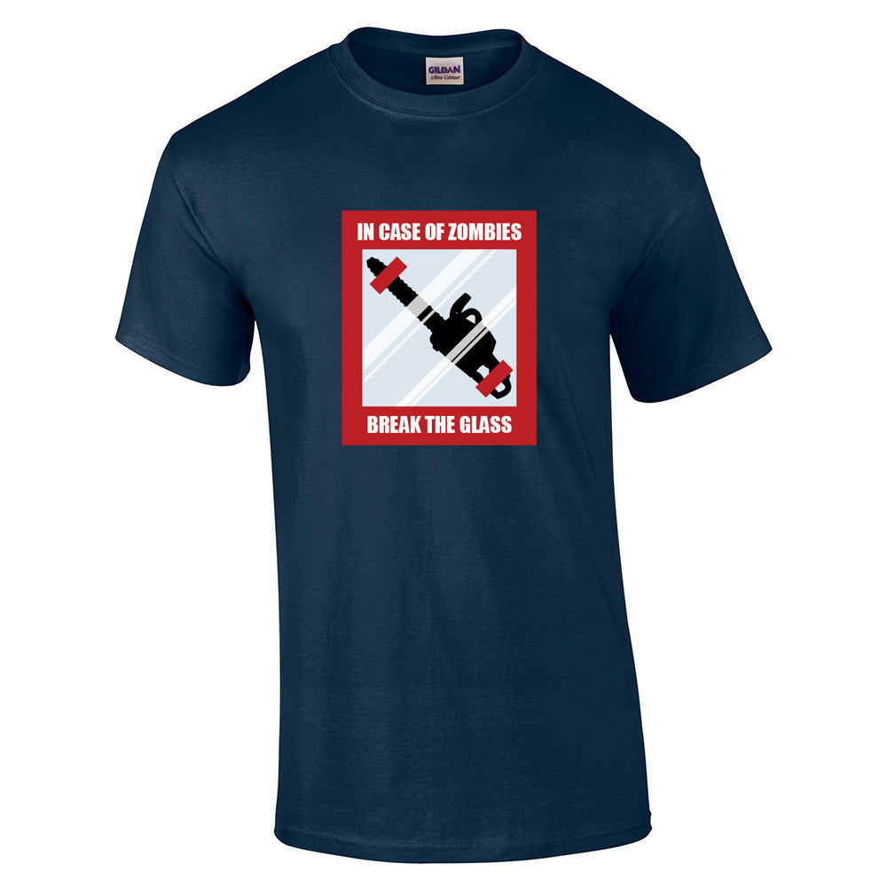 In Case Of Zombies Break Glass T-Shirt - BBT Clothing - 6