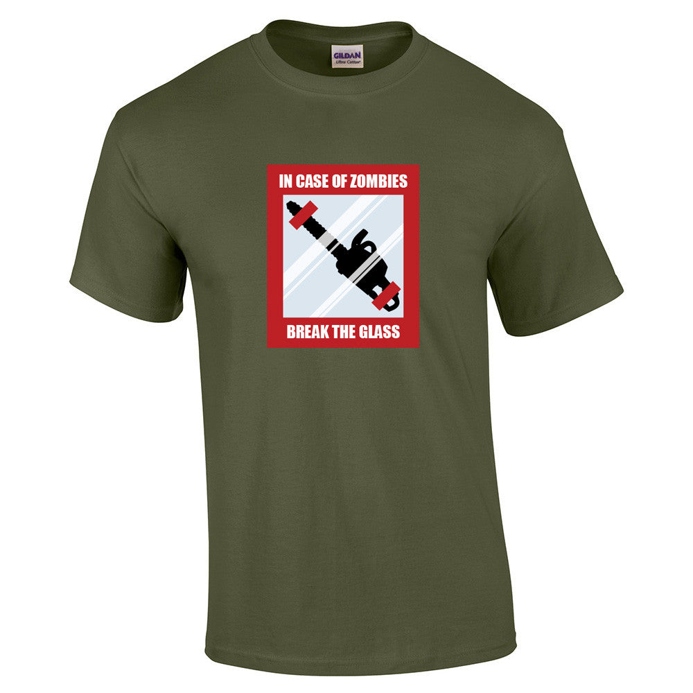In Case Of Zombies Break Glass T-Shirt - BBT Clothing - 8