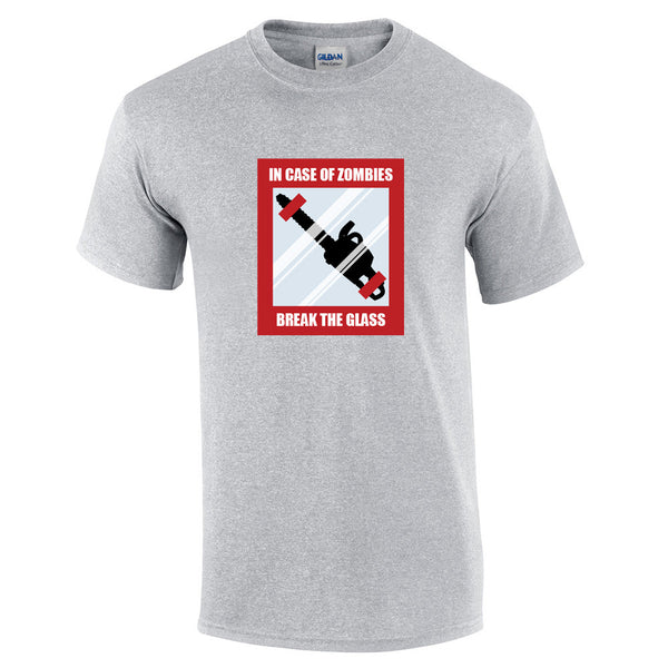 In Case Of Zombies Break Glass T-Shirt - BBT Clothing - 9