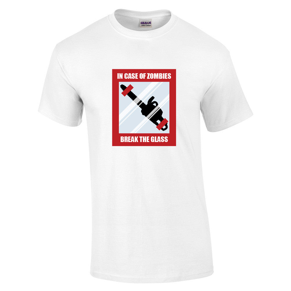 In Case Of Zombies Break Glass T-Shirt - BBT Clothing - 4