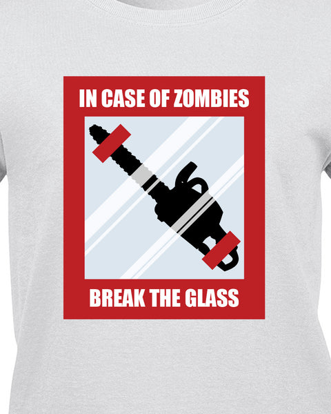 In Case Of Zombies Break Glass T-Shirt - BBT Clothing - 10