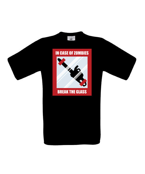 In Case Of Zombies Break Glass T-Shirt - BBT Clothing - 3