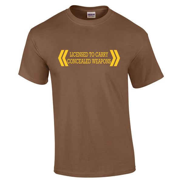 Licensed To Carry Concealed Weapons T-Shirt - BBT Clothing - 7