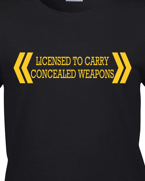 Licensed To Carry Concealed Weapons T-Shirt - BBT Clothing - 9