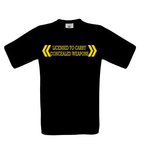 Licensed To Carry Concealed Weapons T-Shirt - BBT Clothing - 3