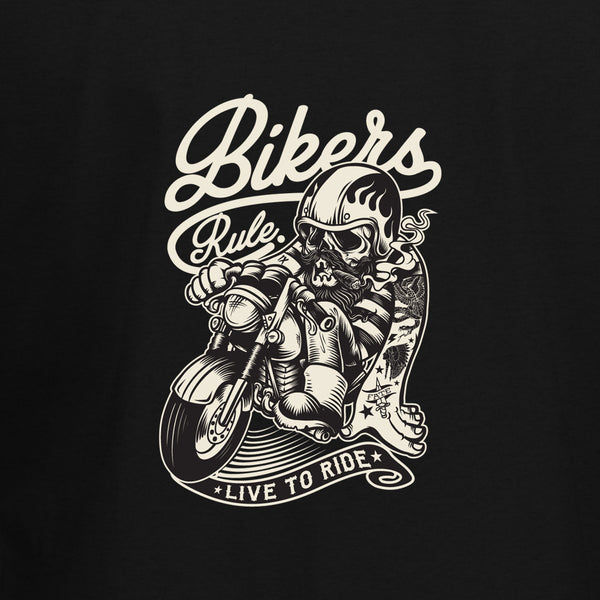Bikers Rule T-Shirt - BBT Clothing