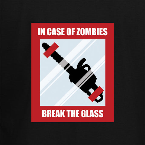 In Case Of Zombies Break Glass T-Shirt