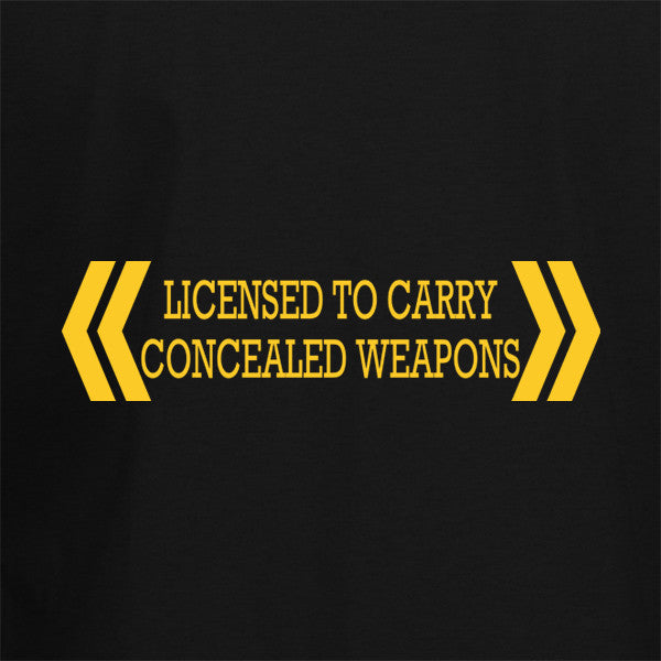 Licensed To Carry Concealed Weapons T-Shirt - BBT Clothing - 2