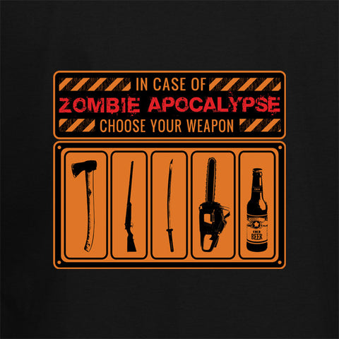 Zombie Apocalypse Choose Your Weapon T-Shirt