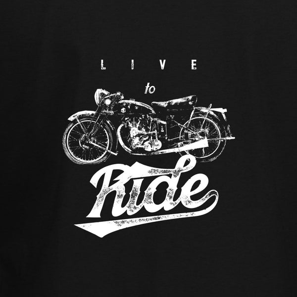 Live To Ride Biker T-Shirt - BBT Clothing - 2