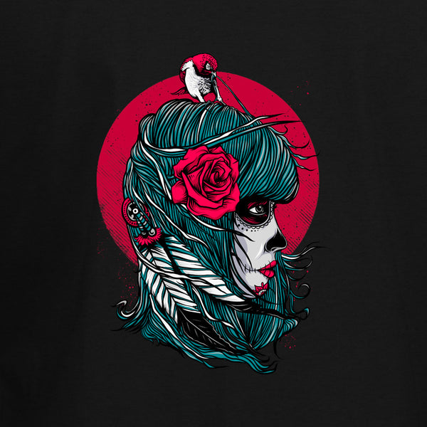 Muerte Lady and Bird T-Shirt - BBT Clothing - 2