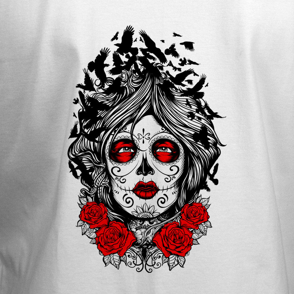 Muerte Lady and Crow T-Shirt - BBT Clothing - 2