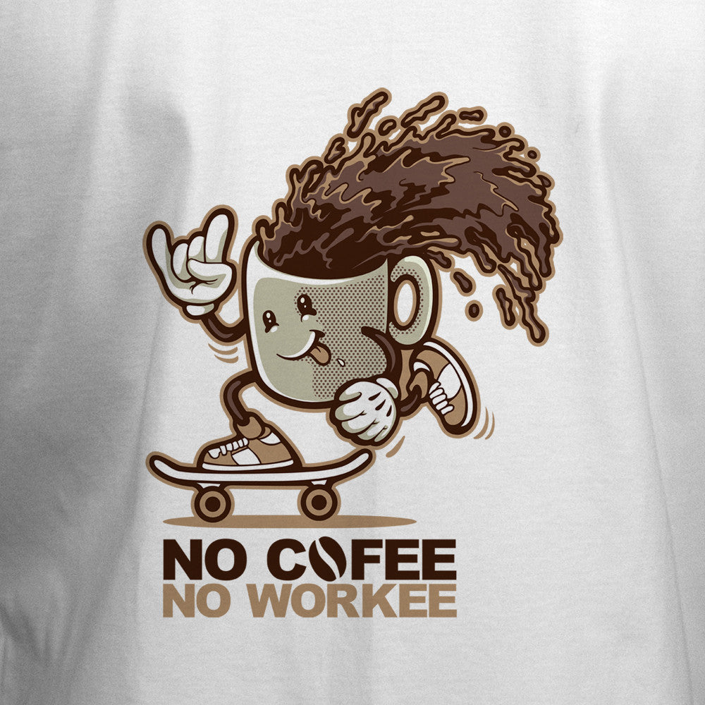 No Coffee No Workee T-Shirt - BBT Clothing - 2