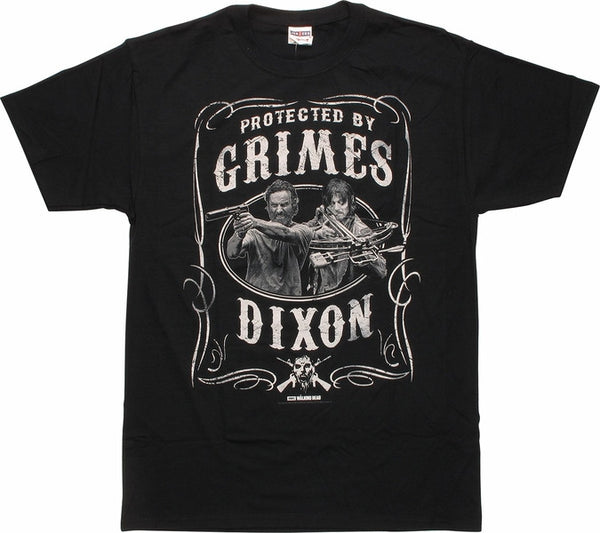 The Walking Dead T-Shirt - Protected By Grimes & Dixon - BBT Clothing