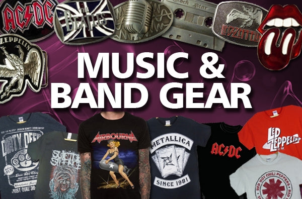 Music & Band T-Shirts & Buckles