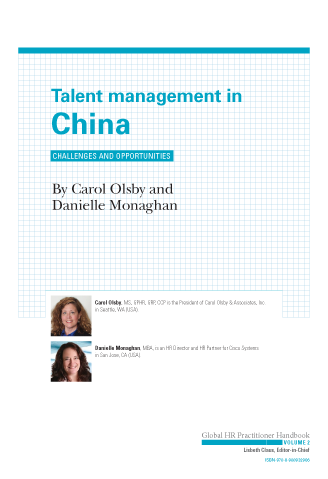 Talent Management in China