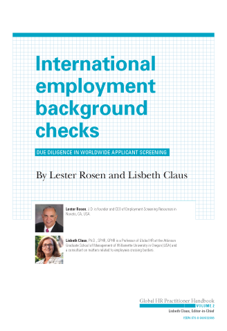 International Employment Background Checks