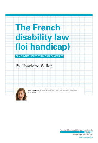 The French Disability Law (loi handicap)