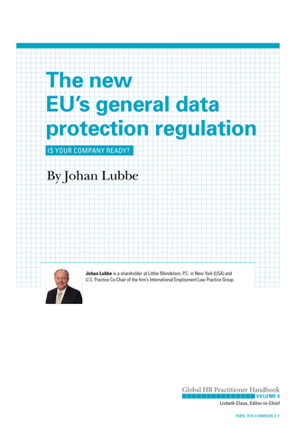 The New EU's General Data Protection Regulation