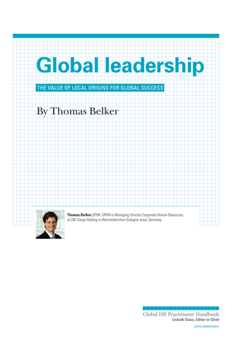 Global Leadership (University / Corporate Use)