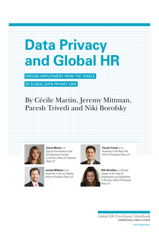 Data Privacy and Global HR (University / Corporate Use)