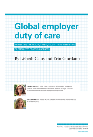 Global Employer Duty of Care (University / Corporate Use)