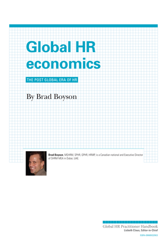 Global HR Economics (University / Corporate Use)