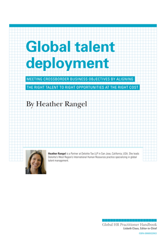 Global Talent Deployment (University / Corporate Use)