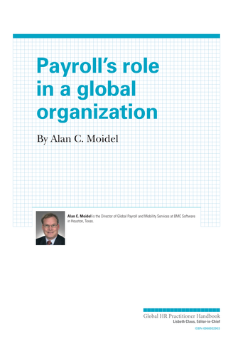 Payroll's Role in a Global Organization (University / Corporate Use)