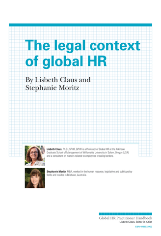 The Legal Context of Global HR (University / Corporate Use)