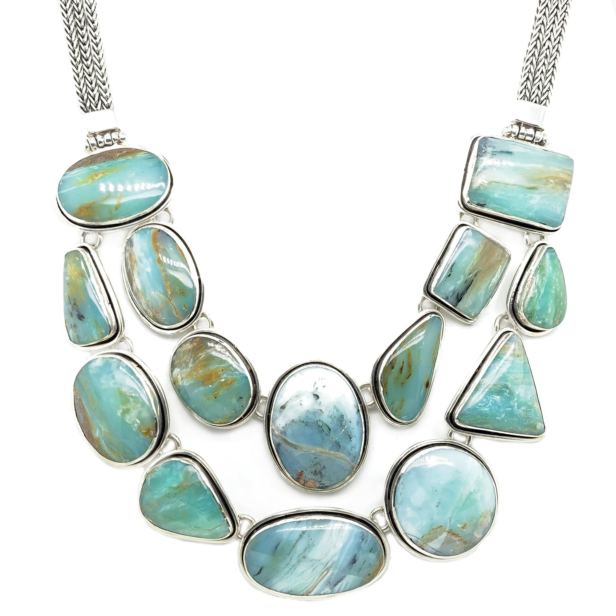 Peruvian Blue Opal Jewelry - Qinti - The Peruvian Shop