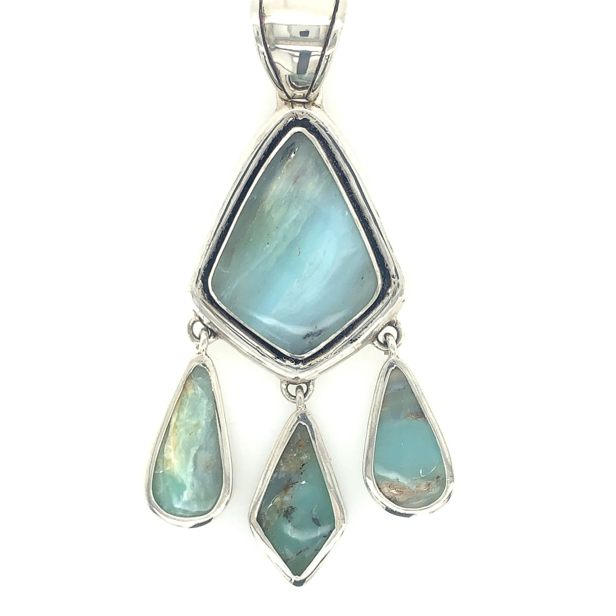 Peruvian Blue Opal Pendants - Qinti - The Peruvian Shop