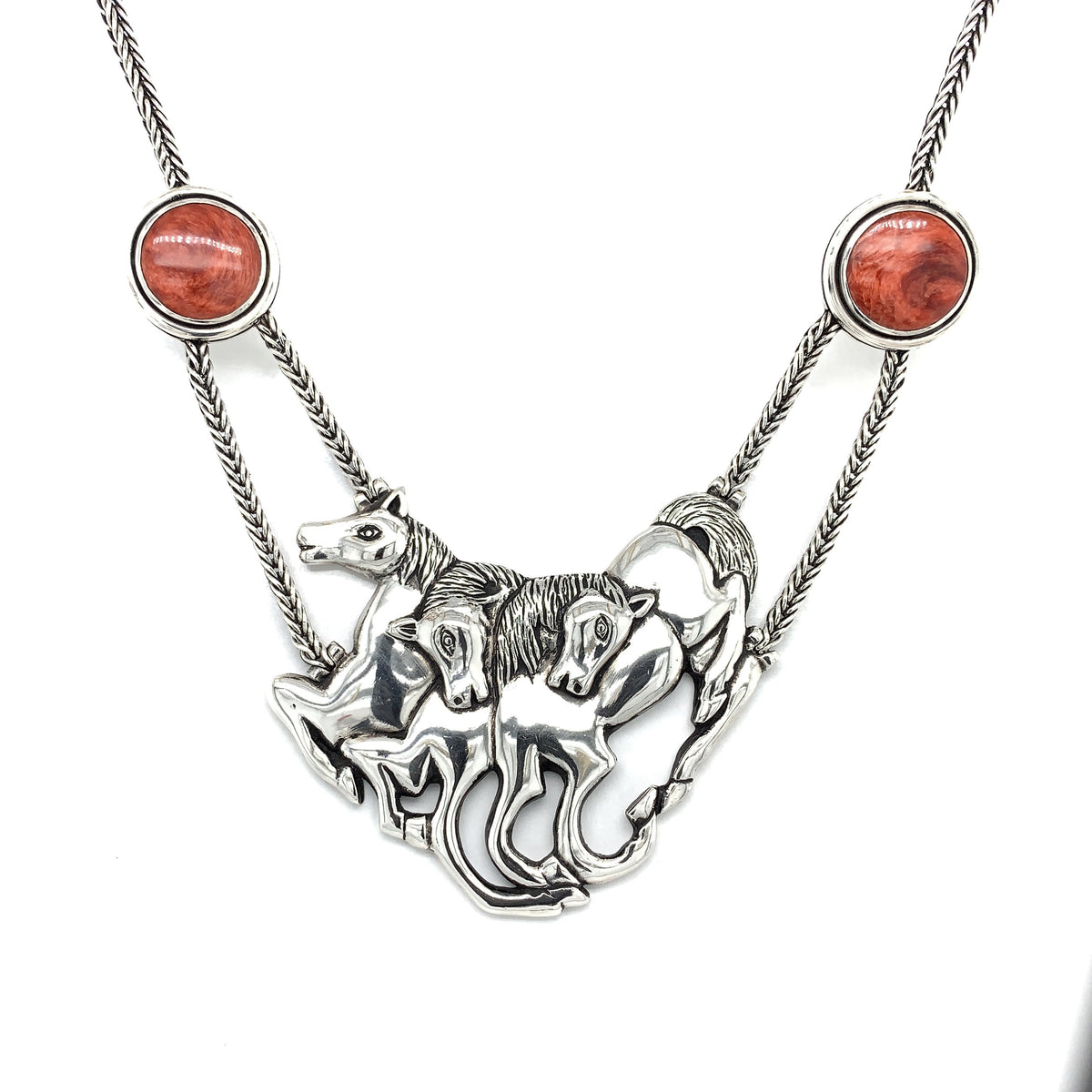 Three Horses Sterling Silver Necklace - Qinti - The Peruvian Shop