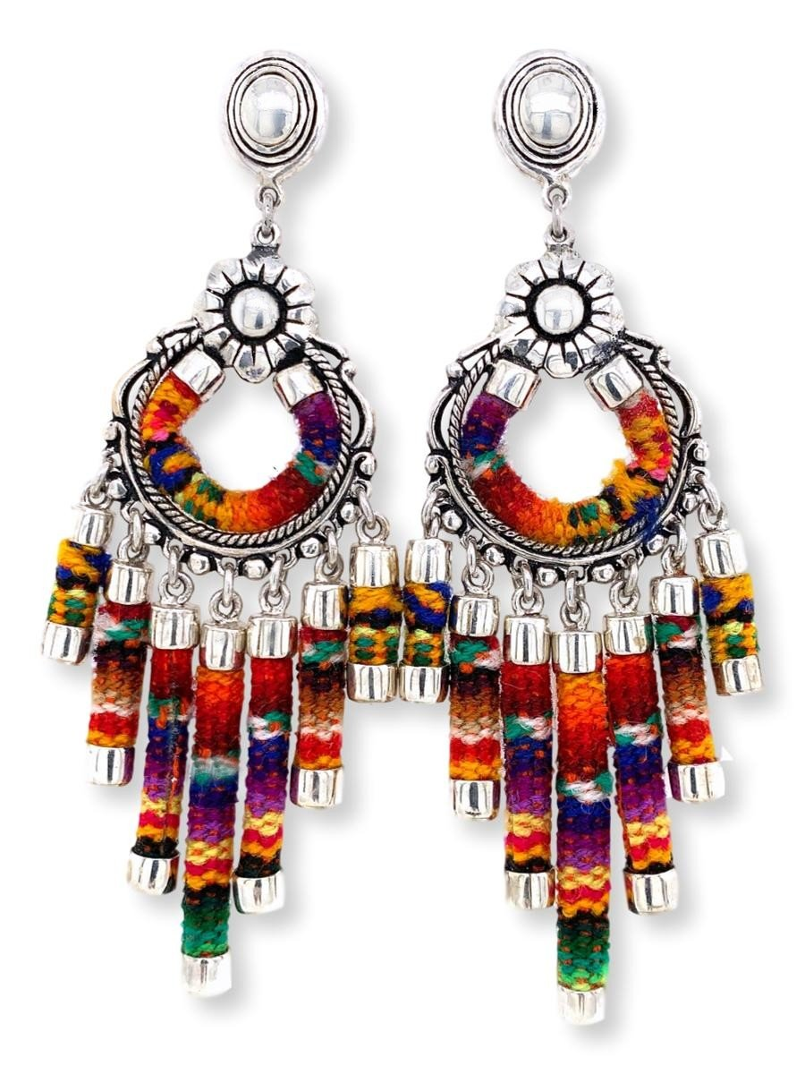 Woven Chandelier Earrings - Qinti - The Peruvian Shop