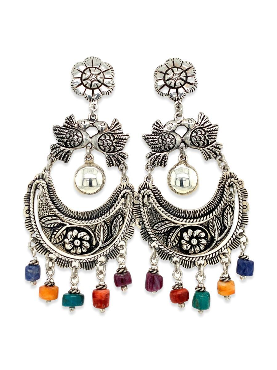Love Birds Chandelier Earrings - Qinti - The Peruvian Shop