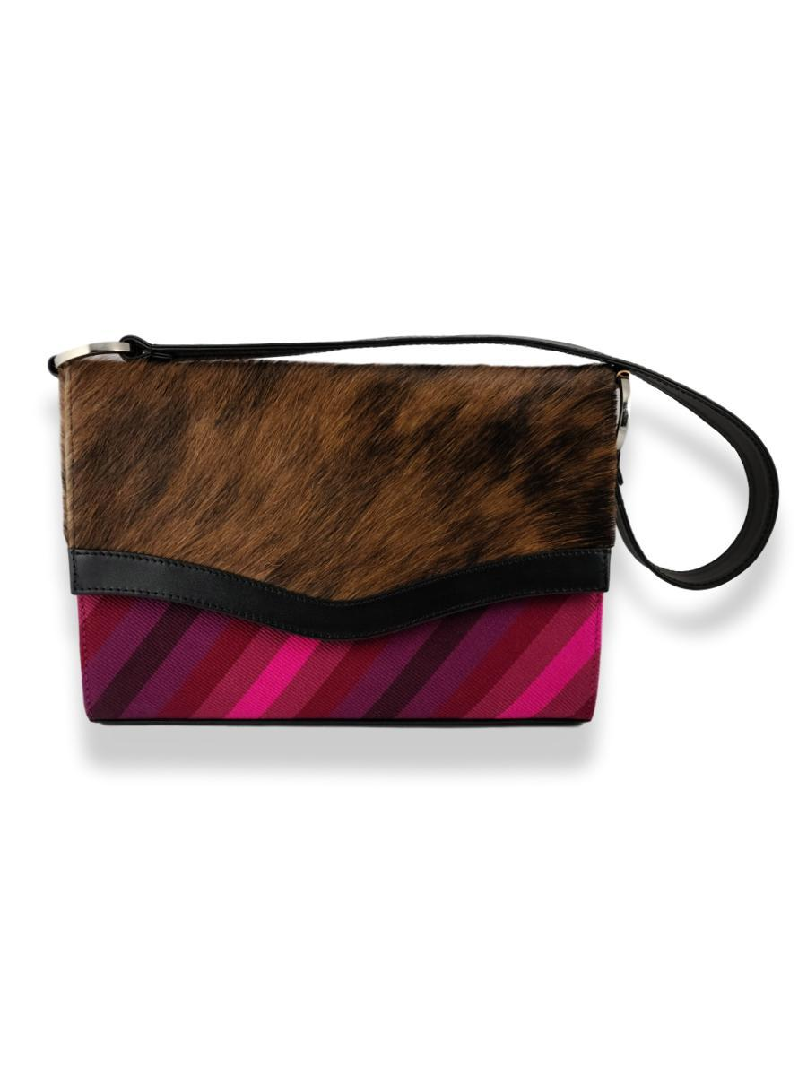 Onda Handbag with Cowhide - Orchid - Qinti - The Peruvian Shop
