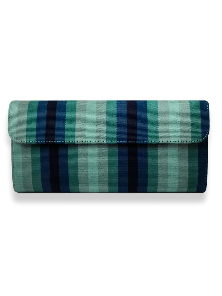Large Classic Clutch - Teal Hues