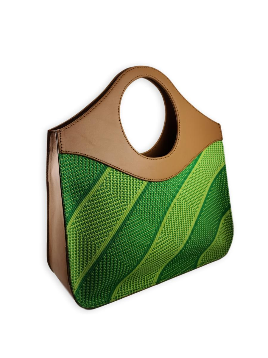 O-Handle Handbag - Vivid Greens - Qinti - The Peruvian Shop