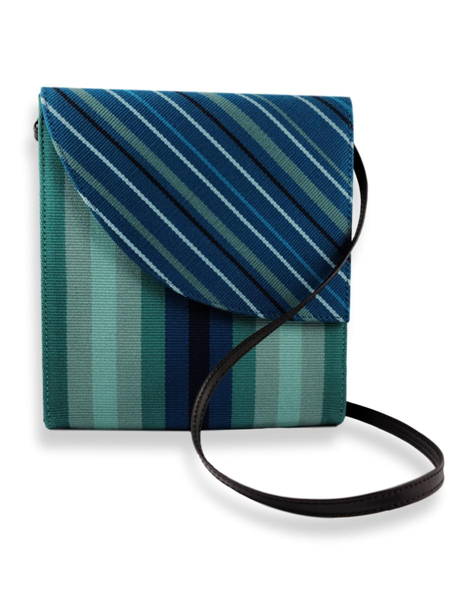 Curva Crossbody Handbag - Teal Hues
