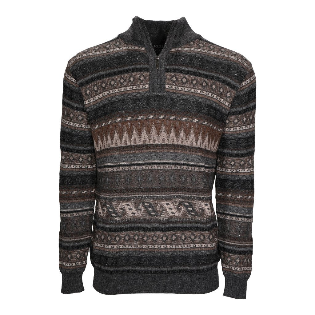 Men's Baby Alpaca Half Zip Colorado Sweater - Qinti - The Peruvian Shop