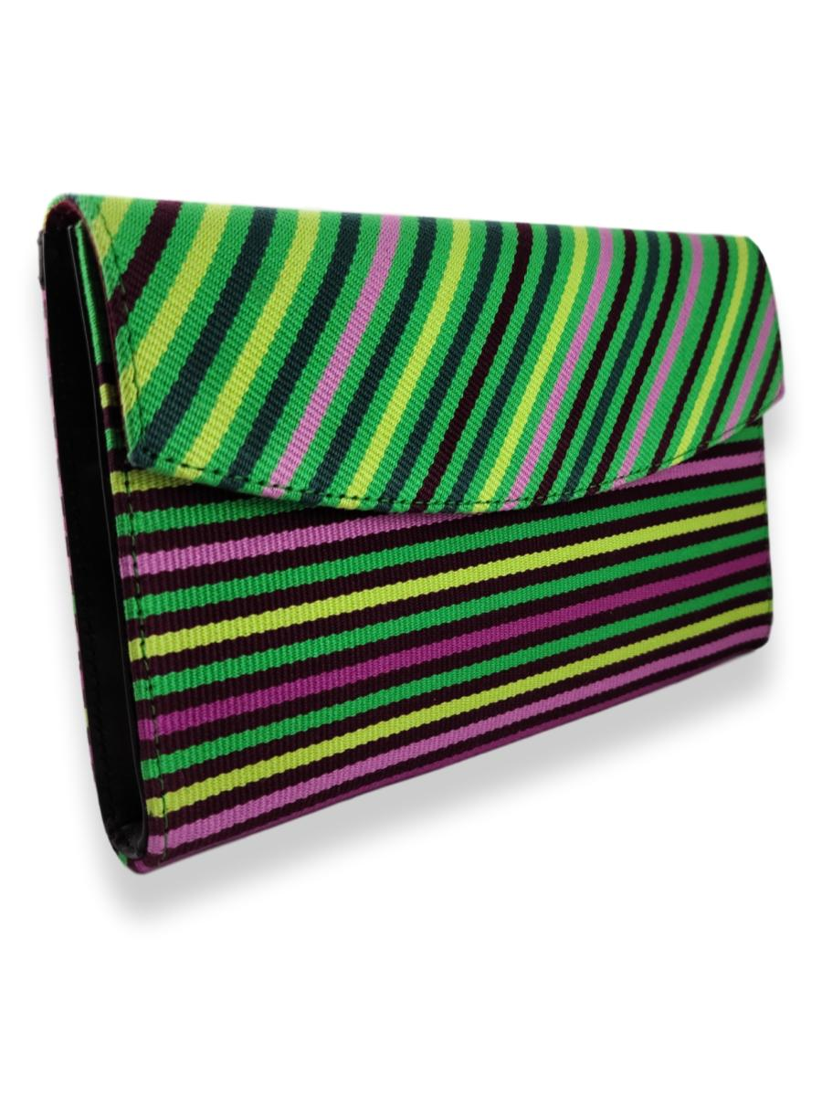 Small Classic Clutch - Orchid Stripes 2
