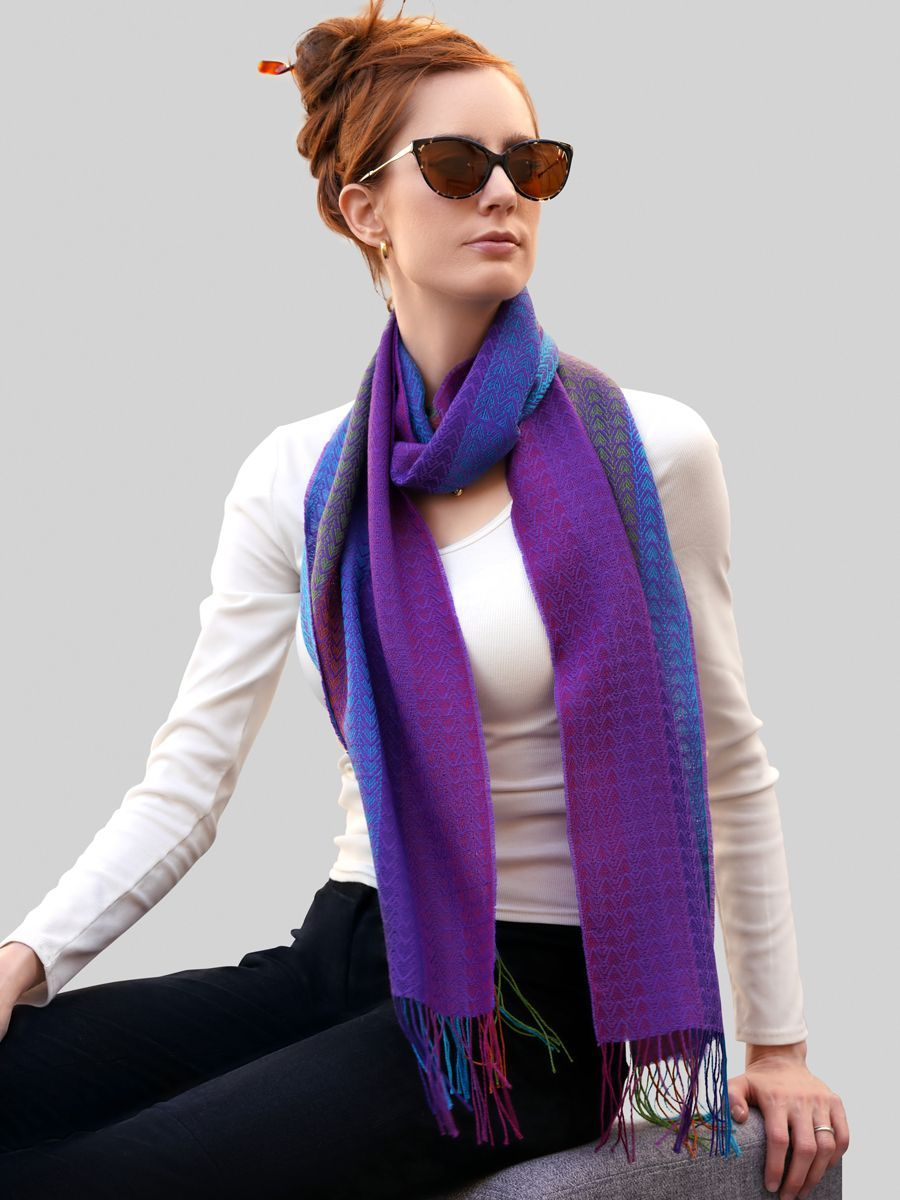 Baby Alpaca Silk Scarf - Qinti - The Peruvian Shop