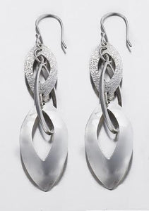 Marquise Drop Sterling Silver Earrings - Qinti - The Peruvian Shop