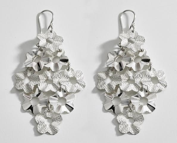 Flower Cascade Sterling Silver Earrings - Qinti - The Peruvian Shop