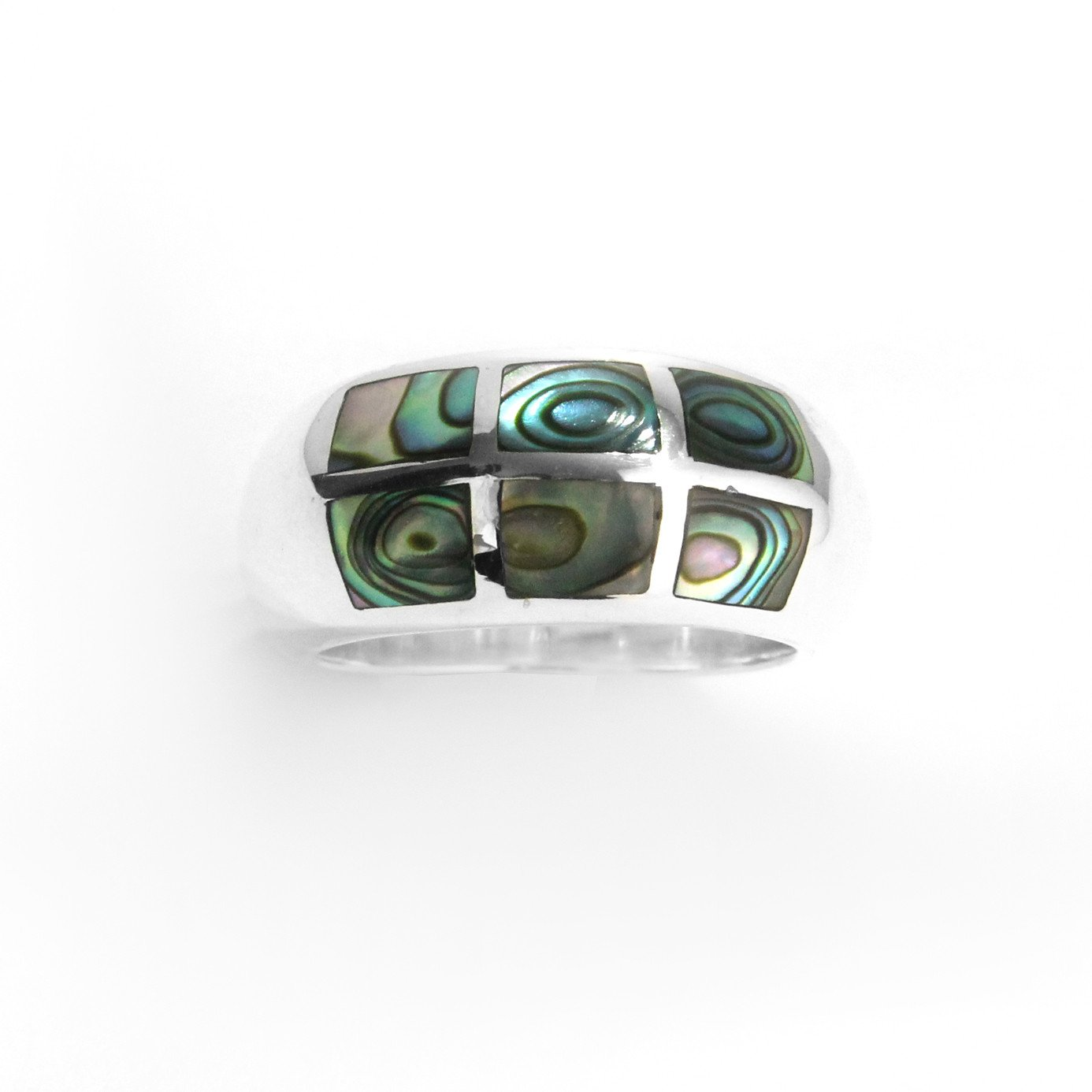 Abalone Ring in Sterling Silver - Qinti - The Peruvian Shop